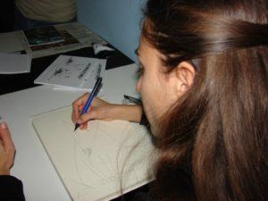 Fumetti - Silvia al lavoro
