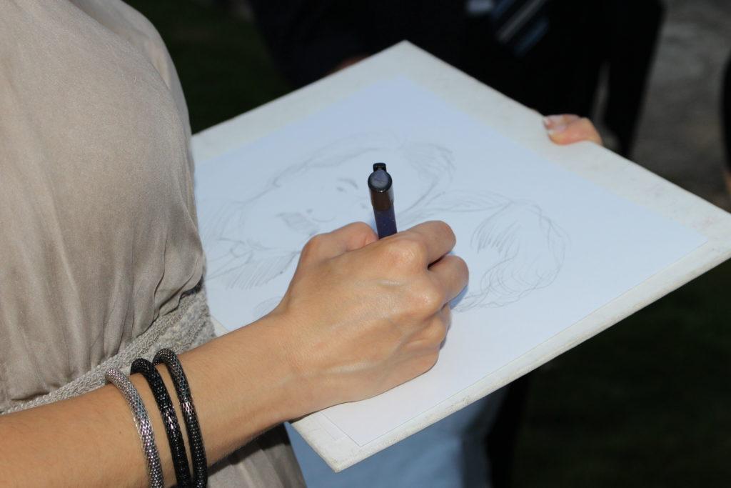 Caricature dal vivo